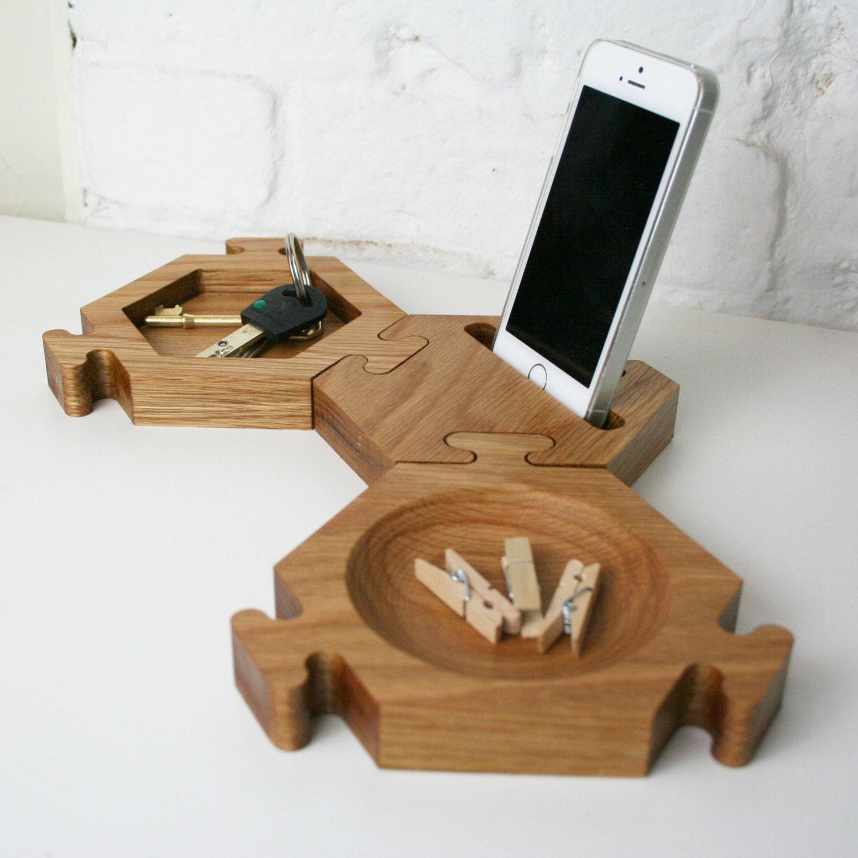 Desk Tidy chunky natural oak desk tidy hexagon desk tidy office tidy