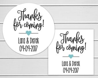 Thank You Stickers, Thank You For Coming Labels, Favor Stickers, Birthday Party Stickers (#131)