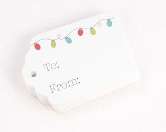 Christmas Tags, 24 Christmas Tags, Christmas Gift Tags (ST-109)