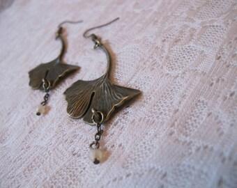 Gingko Biloba Leaf Earrings