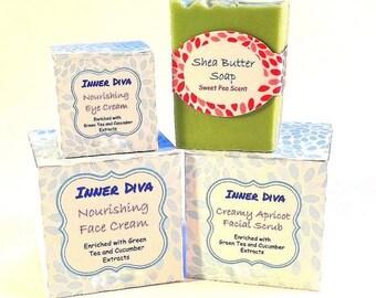 4 Piece Skincare Gift Set Spa Gift Set Skin Care Gift Set Skin Care Set Natural Skin Care Gift Set Bath and Beauty Natural Skincare