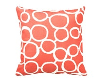 7 Sizes Available: Decorative Throw Pillow Covers Orange Pillow Orange Accent Pillows 20x20 pillow 17x17 pillow 24x24 pillow Cushion Covers