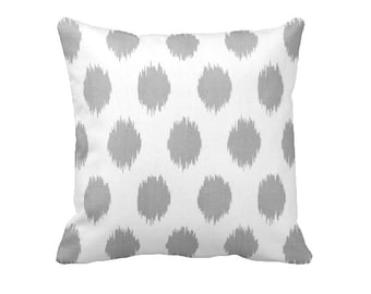 Ikat Throw Pillow Cover Grey Throw Pillow Cover Grey Pillow Cover Grey Ikat Pillow Decorative Pillows for Couch Gray Pillow Euro Pillows