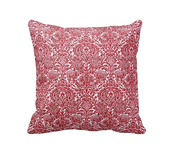 Throw Pillow Case Size : 7 Sizes Available: Red Throw Pillow Cover Decorative Pillow