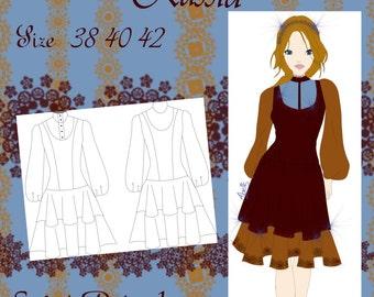 Saint Petersburg dress pattern size 38/40/42 Spanish English