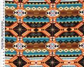 Stripe Southwest Anti Pill Fleece Fabric Sold by the Yard