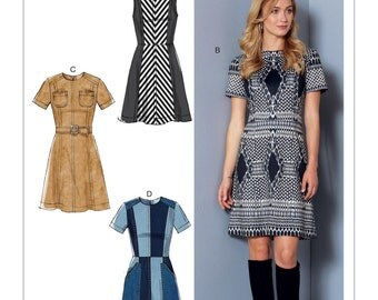 McCall's Pattern M7466 Misses' Paneled Dresses with Yoke, and Belt
