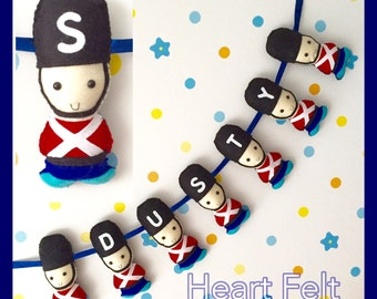 Toy soldier bunting