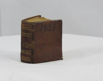 1829 leather bound illustrated mini history of the Bible