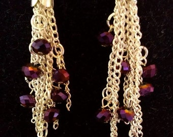 Tassle Earrings with Swarovski Beads