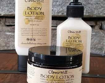 Body Lotion, Lemon Verbena, Moisturizing Hand & Body Cream, 92% Organic Ingredients, 4 oz