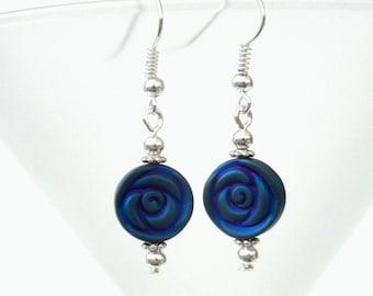 Art deco hematite earrings, coloured hematite earrings, unusual jewellery gifts, special gift for best friend, love earrings, earring addict