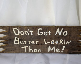 Handmade Solid Hardwood Vanity Sign