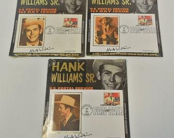 Lot of 3 Hank Williams Sr US Postal Service USPS 1st Day Issue Stamp June 9 1993