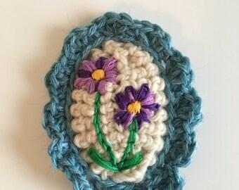 Handmade Wool Brooch
