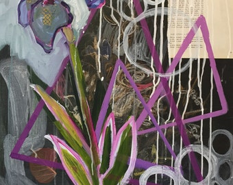 Purple Triangles with Iris