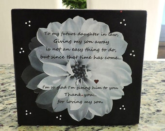 Wedding Gifts For Daughter In Law : Daughter in Law Gift Welcome To The Family Gift Bridal Shower Gift ...