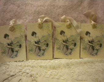 Vintage / Victorian Mother and Daughter Tags (4)