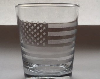 American Flag Tumbler Glass