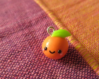 Cernit polymer clay fimo handmade kawaii cute Orange fruit
