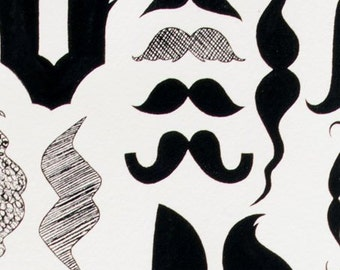 A Must Stache by Alexander Henry Cotton Fabric