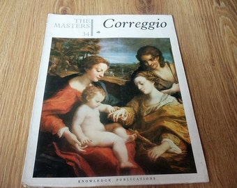 Vintage art book on the life and work of Correggio made in 1964 in English language.