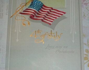 on sale 4th of July American Flag NASH Antique Postcard