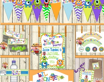 Printable Birthday Lil monster party party pack