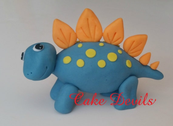 Fondant Dinosaur Cake Topper Standing up with Spikes handmade