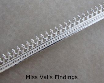 6 inch sterling silver bezel wire 5.1mm gallery design