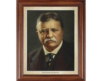 Theodore Roosevelt portrait; 16x20 print on premium heavy photo paper