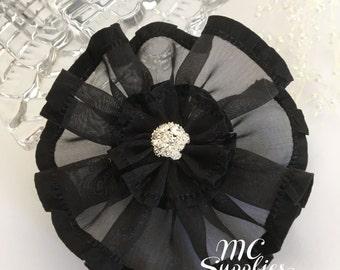 Flower headband,flower girl flowers,hair clip accessories,hair flowers,embellish flowers,fabric flowers,baby headband flower,183