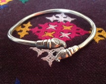 Rajasthan silver, Rajasthan bangle, Makara Heads, Indian bangle, Hindu bangle