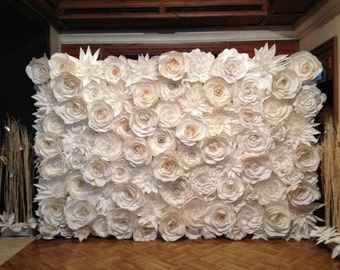 SALE&DISCOUNT Paper Flowers Gold Silver Pearl Backdrop