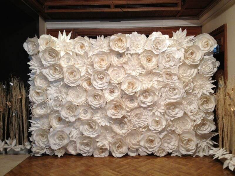 sale u0026discount paper flowers gold silver pearl backdrop