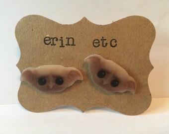 Handmade Plastic Fandom Earrings - Dobby the Elf