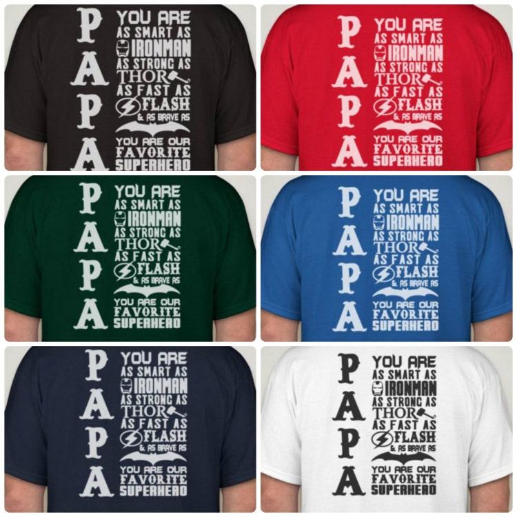 super papa t shirt favorite superhero papa by. Black Bedroom Furniture Sets. Home Design Ideas