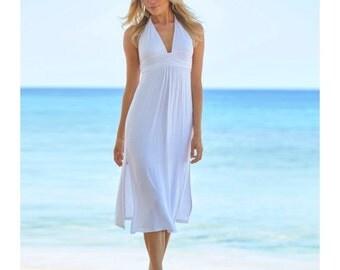 Aspiga St Tropez White 3/4 Halter Dress