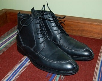 "Men Size 9 ""Donald"" Black Dress Pointy Boots"