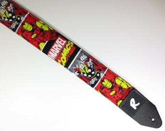 Thor and Iron Man Guitar Strap - Padded - Not A Licensed Item