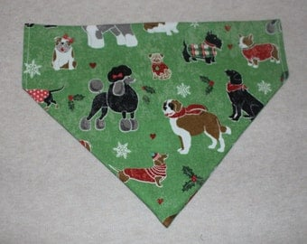 Dogs in Christmas Sweater Dog Bandanna in Small, Medium & Large