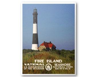 Fire Island National Seashore Travel Poster
