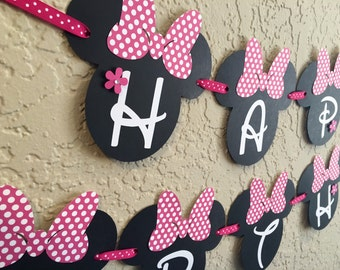 Minnie Mouse Birthday Banner, Minnie Mouse Party, Minnie Mouse Birthday, Minnie Mouse Banner, Minnie, Minnie Mouse Party Decorations