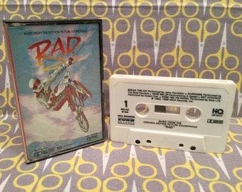 Rad Original Soundtrack Cassette Tape Music from the Motion Picture BMX Classic Vintage
