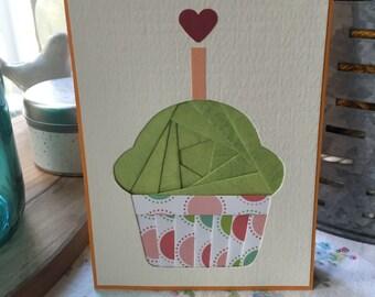 Birthday Cupcake Iris Folding Card