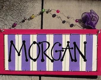 girls name sign, teen name sign, teen door sign, teen room sign, girls room sign, girls door sign, girls name plate, name plate sign