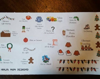 Christmas Bucket List Stickers Perfect for Planners