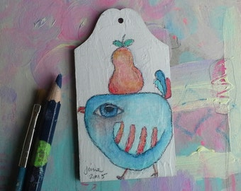 Partridge from the Pear Tree - Christmas Ornament - Gift Tag - 4/12