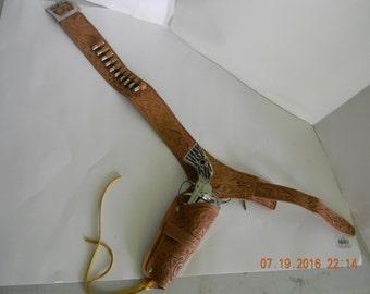 Mattel Shootin Shell fanner cap gun with holster