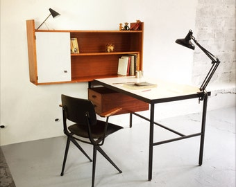Desk and shelf inspired by Paulin's work.